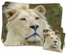 White Lion Twin 2x Placemats+2x Coasters Set in Gift Box, AT-46PC