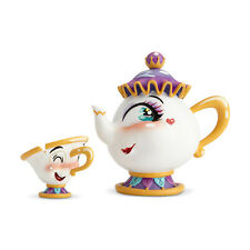 Enesco The World of Miss Mindy Mrs. Potts and Chip Set New #6001670