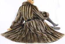 M-L Waschbär Pelzmantel Pelz Mantel raccoon fur coat Vintage Waschbärmantel Fell
