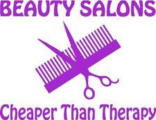 Beauty Salon Cheap Therapy-Hair Dresser Sticker/Decal