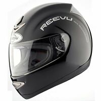 Reevu Rear View MSX1 Motorcycle Helmet Black Gloss
