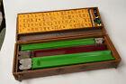 Mahjong Set (R5L) 152 Tiles w/5 Bettor's Racks Box & Coins Butterscotch Bakelite