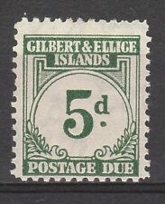 GILBERT & ELLICE 1940 POSTAGE DUE 5D