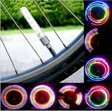 Colorful Bike Bicycle Wheel Tire Valve Cap Spoke Neon Lights 5LED Lamp 32 Change