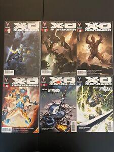 X-O Manowar 1-9 w/Variants High Grade Valiant Lot Set Run D24-93