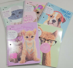 Mead Purrs & Grrrs  Spiral Notebook, 70 Wide Ruled Sheets