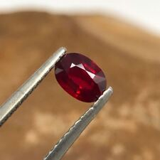 Certified 0.75 Ct Natural Unheated Pigeon Blood Ruby | Oval | VVS
