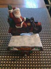 1999 Santa Claus Riding Indian Motorcycle Stocking Holder