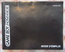 Game Boy Advance - Mode d'emploi (French manual only)