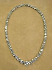 45Ct Round Cut VVS1/D Diamond Tennis Necklace Solid 14k Real White Gold Over