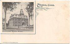 Morgan School in Clinton CT Postcard