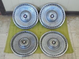"""71 72 73 Buick Hub Caps 15"""" Set of 4 Wheel Covers 1971 1972 1973 Hubcaps Finned"""