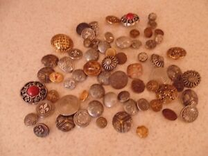 Vintage and Antique Metal Buttons, Fleur De Lis, Animal Designs, Chanel