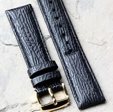 Shark grain leather 20mm padded & stitched vintage watch band Nos from 1960s/70s