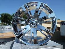 "(4) 24"" Cadillac Escalade GMC Chevy Chrome Wheels Rims Set Sierra Silverado 4 22"