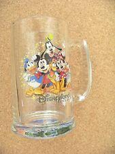 Disneyland Resort glass handled cup mug tankard Mickey Mouse Minnie Goofy Donald