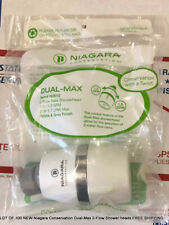 Lot Of 100 New Niagara Conservation Dual-Max 2-Flow Shower heads Free Shipping