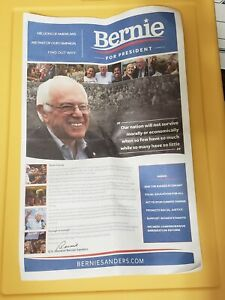 Bernie Sanders For President Large Campaign Nevada 2016 Newsletter