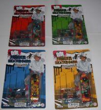 Mini Plastique Touche Doigt Skateboard Roues de rechange, vis Kids Fun Toy