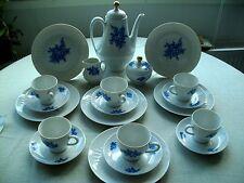 Kaffeeservice für 6 Personen von Scherzer,Dekor >> Blaue Blume <<