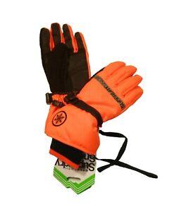 Superdry Men's Hyper Orange/Black Ultimate Service Ski Gloves