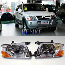 Front Head lamp Headlights Assembly Set For Mitsubishi Pajero Montero 2000-2006