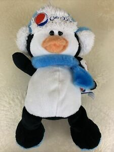 Penguin With Baby Penguin And Ear Muff Hat Pepsi-Cola