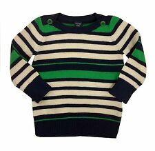 Gap Baby Girl Jumper Sweater Striped Blue Green 6-12 Months