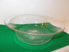 """Vintage Clear Pressed Glass 8"""" Bowl With Star Design in Center"""
