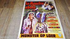 LE MONSTRE AUX ABOIS  4d man ! affiche cinema science fiction 1958