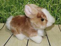 "Miyoni Tots BABY BUNNY 7"" Plush Brown White Rabbit Stuffed Animal Aurora NEW"