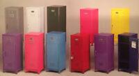 """Kids Mini Metal Locker Kids Treasure Box 4.25""""w 4.50""""d 10.75""""h 11 colors, SS622"""