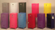 "Kids Mini Metal Locker Kids Treasure Box 4.25""w 4.50""d 10.75""h 11 colors"