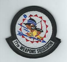 77th WEAPONS SQUADRON (ON LEATHER-THEIR LATEST) patch