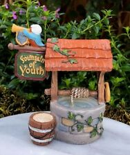 Miniature Dollhouse FAIRY GARDEN ~ MEDIEVAL TIMES Fountain of Youth Well ~ NEW