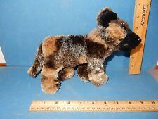 "AFRICAN WILD DOG SOFT & SILKY FUR  PLUSH stuffed TOY 9.5"" LONG"