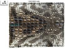 Genuine Alligator Crocodile Natural Leather Men's Bifold Wallet RFID blocking #5