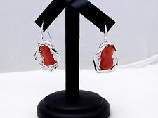 Orecchini pendenti in Corallo Rosso Argento 925 spedizione regalo più omaggio
