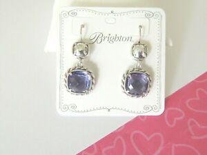 BRIGHTON Portobello Orange /& Violet Cœurs Bright Silver Custom .925 Boucles d/'oreilles