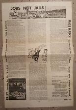VINTAGE 1969 CHICAGO IL DAYS OF RAGE BLACK PANTHERS FRED HAMPTON VIETNAM FLYER