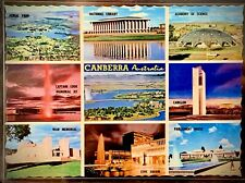 Vintage Postcard - 9 Scenes of Canberra, Australia - NUCOLORVUE (c. 1960s)