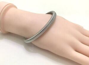 "Calvin Klein Jeans Silver Tone Bangle Bracelet, 8""/20cm RRP £65"