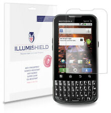 iLLumiShield Phone Screen Protector w Anti-Bubble/Print 3x for Motorola XPRT