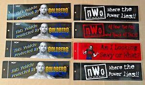 (Lot of 8) Vintage 1998 WCW NWO Bumper Stickers Goldberg Kevin Nash NEW
