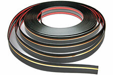 Zierleiste 39mm breit | schwarz gold | flexibel selbstklebend | Meterware