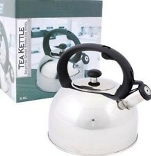 NEW 3 L Stainless Steel Whistling Tea Kettle Water Pot Heat Boiler W/ Handle