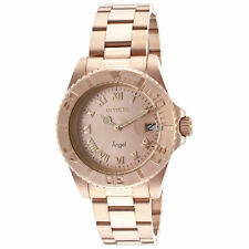 Invicta Lady's 14322 Angel Rose Gold Dial Rose Gold Steel Watch