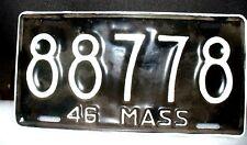 Massachusetts 1946 SINGLE PLATE YEAR License Plate # 95263