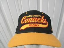 152e74cda95fb7 VINTAGE STARTER NHL VANCOUVER CANUCKS SCRIPT 1978-1997 LOGO CAP HAT PREOWNED