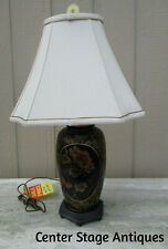 55636 ARTIST SIGNED  MURRAY FEISS ?? Oriental Table Lamp w/ Shade